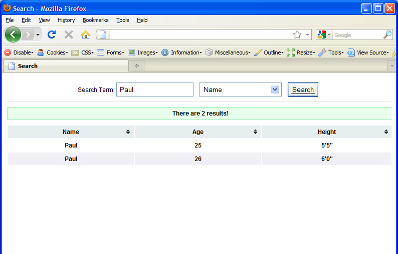 BLEN Corp - jSearch: Simple jQuery/XML based search